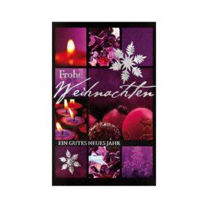"""Weihnachtskarte, Motive: """"Kugeln und Kerzen"""", silberne Folienprägung Klappkarte"""