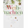 Weihnachtskarte, weißer Karton, goldene Folienprägung Klappkarte