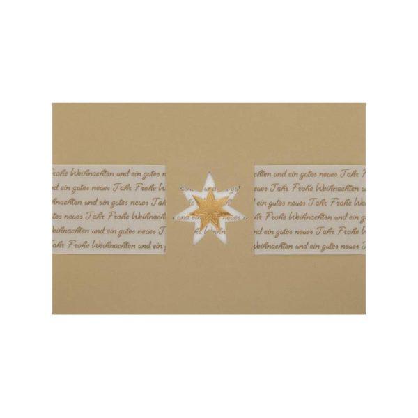 Weihnachtskarte, goldener Karton, mit Transprint Klappkarte