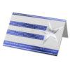Weihnachtskarte, mit Stern, silberne Folienprägung Klappkarte