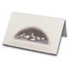 Weihnachtskarte, Dorf, goldene Folienprägung Klappkarte