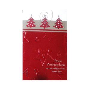 Weihnachtskarte, Offsetdruck mit Tannen Klappkarte