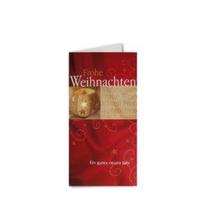 Weihnachtskarte, hochwertiger Offsetdruck Preis cellophaniert mit Umschlägen Klappkarte