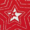 Weihnachtskarte auf rotem Designkarton mit Stern, Ausstanzung und Silberfolienprägung Klappkarte