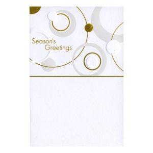 "Weihnachtskarte, weißer Karton, ""Season's Greetings"", goldene Folienprägung Klappkarte"