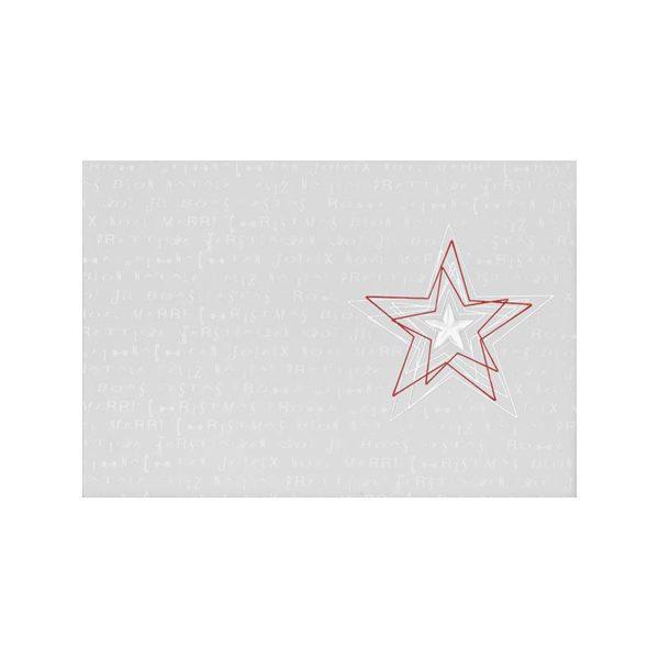 Weihnachtskarte, weißer Karton,silberne und rote Folienprägung, LackprägungKlappkarte