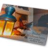 """Weihnachtsklappkarte, hochwertiger Offsetdruck mit UV-Lackierung """"leuchtende Laterne"""""""