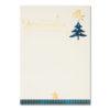 Weihnachtsbrief, Weihnachtsbaum und goldener Stern, Folienprägung gold, ohne Text