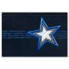 Weihnachtskarte, dunkelblauer Karton, Folienprägung blau und Silberholographiefolie, Einlegeblatt weiß