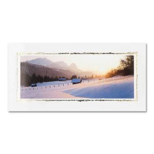 """Weihnachtskarte, """"Winterlandschaft"""", goldene Folienprägung Klappkarte"""