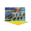Glückwunschkarte, Aquarell Boote