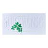 Glückwunschkarte, Herzlichen Glückwunsch, mit goldener und grüner Folienprägung, Blindprägung