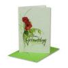 Glückwunschkarte, Zum Geburtstag, Aquarell Mohnblume