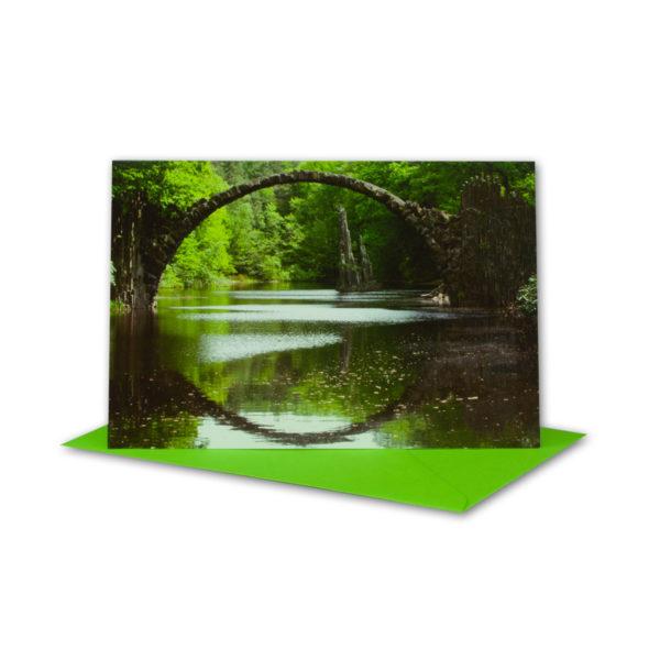 Glückwunschkarte, Seebrücke