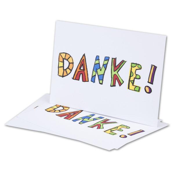 "Danksagungskarte, Postkarte, ""Danke"""