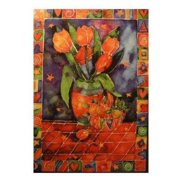 """Glückwunschkarte """"Blumenvase"""""""