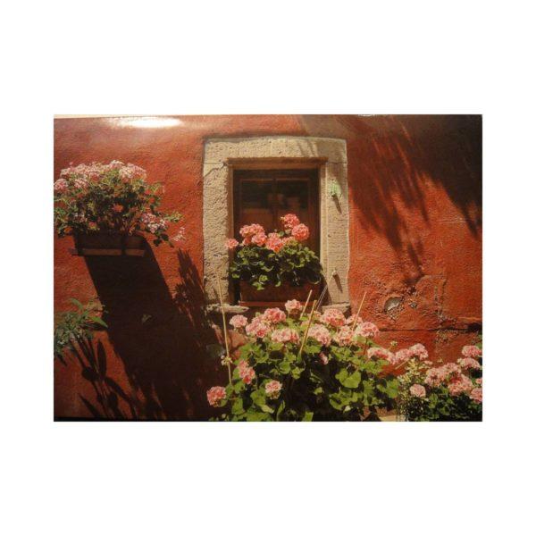 """Glückwunschkarte """"Blumenfenster"""""""