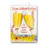 Geburtstagskarte Din A4 mit weißen Umschlägen, cellophaniert