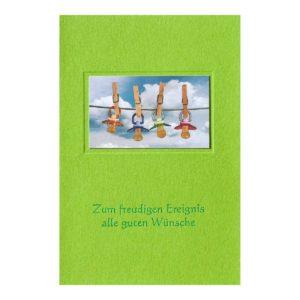 Glückwunschkarte B6 mit weißem Einlegeblatt, inkl. Umschlag
