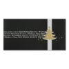 Weihnachtskarte, schwarzer Samtkarton, Folienprägung silber und gold