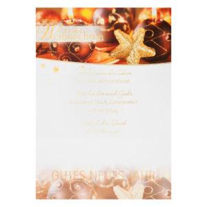 Weihnachtsbrief, Weihnachtsstern mit Karos