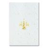 Weihnachtskarte, weißer Karton, Folienprägung gold matt, Blindprägung