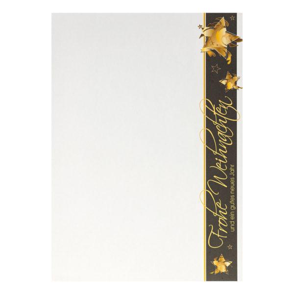 Weihnachtsbrief mit goldenen Sternen