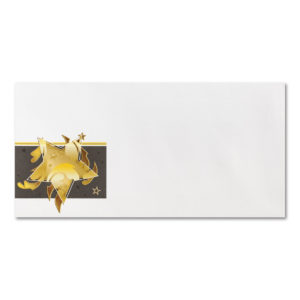 Briefumschlag mit goldenen Sternen ohne Fenster