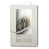 Weihnachtskarte, irisierender cremefarbener Designkarton, Gold und Silberfolienprägung, Silber Reliefprägung