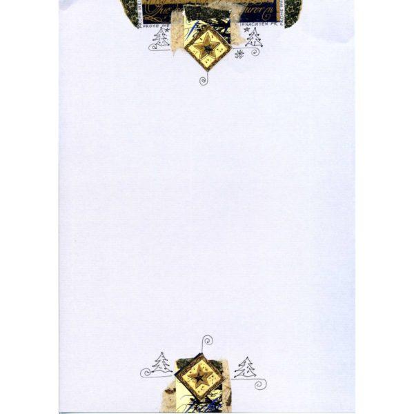 Weihnachtsbrief mit Goldprägung