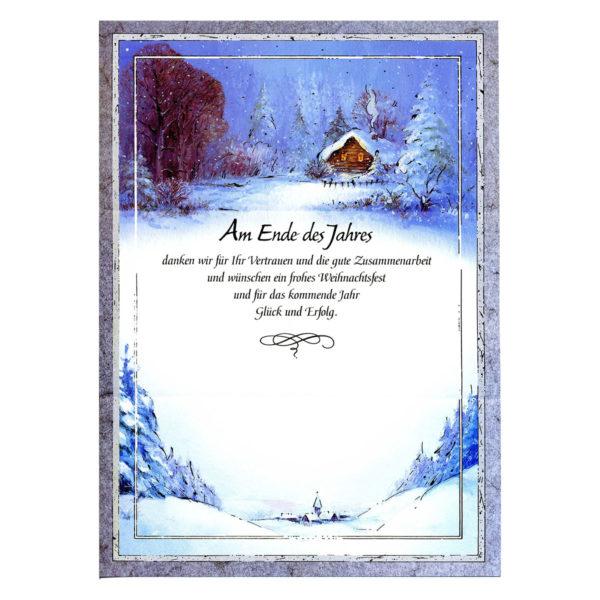 """Weihnachtsbrief Motiv """"Winterlandschaft"""""""