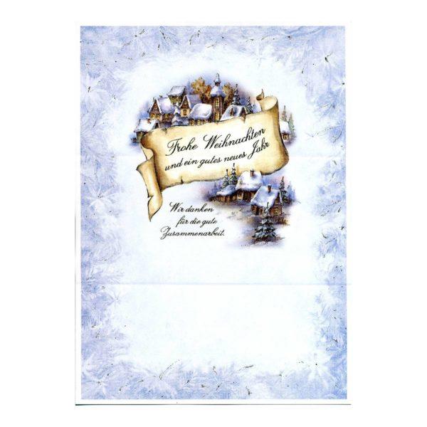 """Weihnachtsbrief Motiv """"Winterdorf"""""""