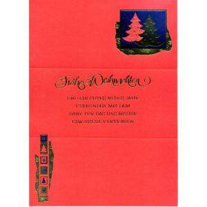 Weihnachtsbrief rot mit Text