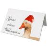Weihnachtskarte, Offsetdruck, Weihnachtsgrüße Gans