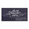 """Sterne und Schneeflocken mit Text """"Herzliche Weihnachtsgrüße und ein gutes neues Jahr verbunden mit dem Dank für Ihr Vertrauen"""", Geschäftstextkarte mit silbernen Sternen. Format: 21,0 x 10,5 cm, QF, inkl. Einlegeblatt und Umschlag weiß"""